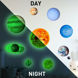 Glow In The Dark Luminous Stars Moon Planet Space Kid Wall Stickers Decal bright