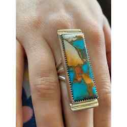 Kyпить NWT Sterling Native American Turquoise/Spiny Oyster Ring 7.5 на еВаy.соm