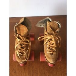 Kyпить Vintage Chicago Roller Skates / Suede Leather / Chicago Wheels на еВаy.соm
