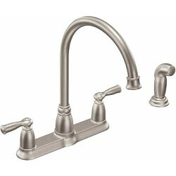 Kyпить Moen CA87000SRS Banbury Kitchen Faucet with Side Spray in Spot Resist Stainless на еВаy.соm