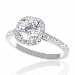 Kyпить Wedding 14K White Gold Round Cut Diamond Engagement Ring 1.15 CT D/VS2 на еВаy.соm