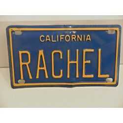 Kyпить Vintage California RACHEL Mini Bike Bicycle Vanity Metal License Plate на еВаy.соm