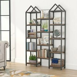 Kyпить Wood Shelving Bookcase Triple Wide Bookshelf 70