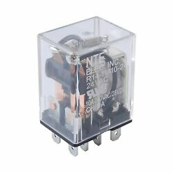 NTE Electronics R14-11A10-120 Series R14 General Purpose AC Relay, DPDT Conta...