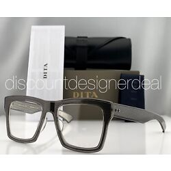 DITA INSIDER TWO Eyeglasses Gray Crystal Clear Demo Lens DRX-2090-C-GRY-52 NEW