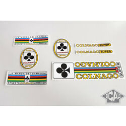COLNAGO SUPER early 70s CARDS  decal set sticker complete bicycle FREE SHIPPING
