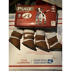 EUC PUGZ SHOES FOR DOGS size 6 LARGE made by HUGS PET PRODUCTS