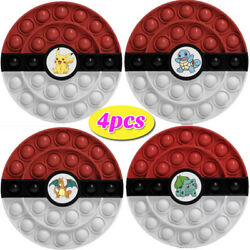 4PC Push Bubble Fidget Toy For Pokeball Stress Relief Toy Antistress Anti-Stress