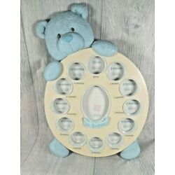 Kyпить  Baby Boy's Blue Bear  Picture Frame, First Year by Month, by Russ на еВаy.соm