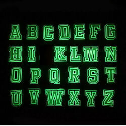Glow in the dark Alphabet Letter & Number Croc Charms Letters