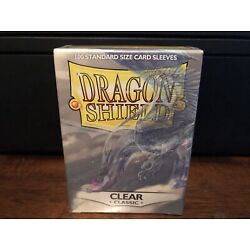 Dragon Shield Sleeves Pack of 100 Standard Size Card Sleeves Clear Classic