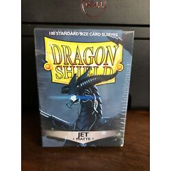 Dragon Shield Sleeves Pack of 100 Standard Size Card Sleeves Jet Matte