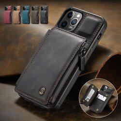 For iPhone 12 11 Pro Max XR XS 78 SE Leather Wallet Card Holder Stand Flip Case