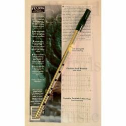 Brass WHISTLE Key of ''D'' FEADOG Fingering Chart and Instruction Included