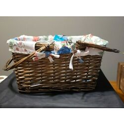 The Pioneer Woman Vintage Rose Willow Wicker Picnic Basket- New