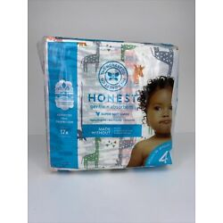 NEW The Honest Company, Diapers Giraffe Size 4, 23 Count Soft Gentle + Absorbent