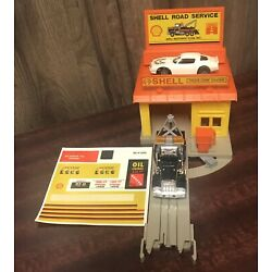 TYCO TRUCKING US 1 SHELL GAS STATION RARE TOW TRUCK AND CAR