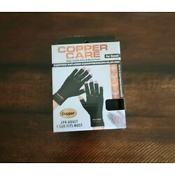Copper Care Copper Infused Compression Gloves Adult, 1 Size Fits Most New