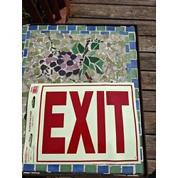 Hillman 840200 Exit Self Adhesive Sign, Glow in the Dark Vinyl with Reflective