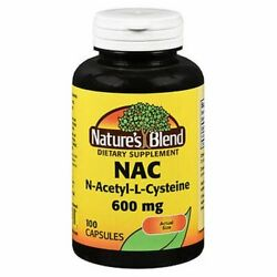 Nature's Blend Nac Capsules 100 Tabs 600 mg