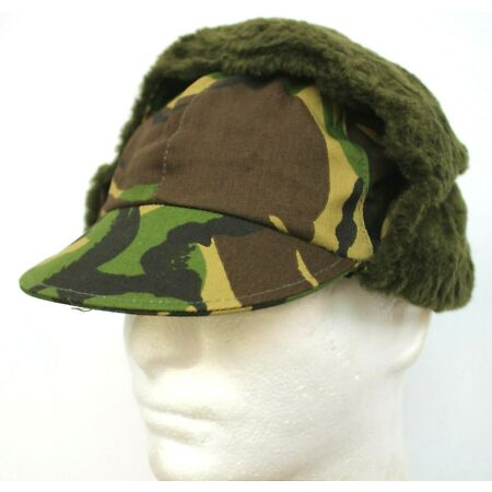 img-DUTCH ARMY COLD WEATHER FIELD CAP HAT in DPM WOODLAND CAMO 58cm