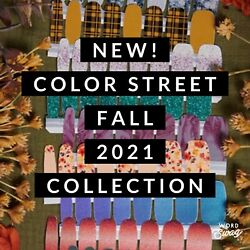 NEW FALL COLLECTION COLOR STREET NAIL POLISH STRIPS SET 2021 WINTER glitter