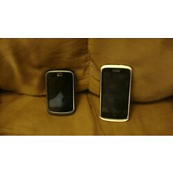 lot of two cellphones lg/zte tracphone/cricket phones sold as is.
