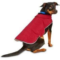 Med Dog Water Resistant Fleece Lined Red Reflective Thinsulate Barn Coat Jacket
