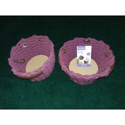 Better Homes and Gardens Chunky Rope 2 PC Basket Set Burgundy