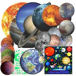 Solar System Glow in The Dark Planets and Stars Stickers for Ceiling and Wall