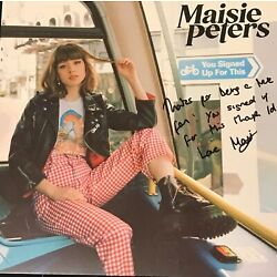 Maisie Peters HAND SIGNED Vinyl, You Signed Up For This, Psycho, Elvis Song NEW