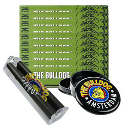 Pack ~ The Bulldog Amsterdam ~ King Size booklets + Roller Machine + Grinder