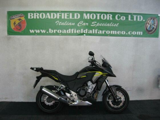 2015 15-reg Honda CB500X Finished in black and yellow