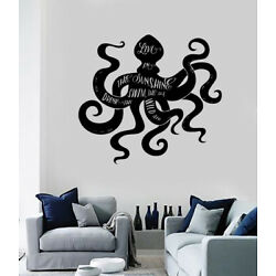 Vinyl Wall Decal Octopus Sea Animals Quote Words Motivation Phrase (n1578)