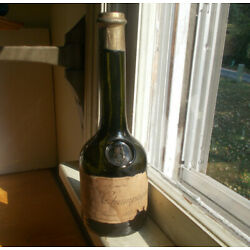 RARE 1582 CASTLE EMB CHAMPAGNE BOTTLE WITH ORIGINAL 1875 LABEL THE SILVER TOWER