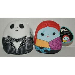 Squishmallow Nightmare Before Christmas Jack and Sally Lot 5