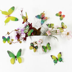 48pcs 3D Butterfly Wall Sticker Decal Stickers for BedRoom Decoration Green