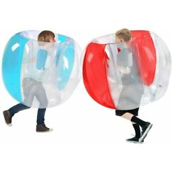 Inflatable Bumper Ball Bubble Soccer Juniors Body Zorb Ball Gaming Toy Blue