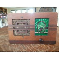 Hard to Find Art Deco Western Auto Supply Co. Pla-Mor Model D-707 Radio Working