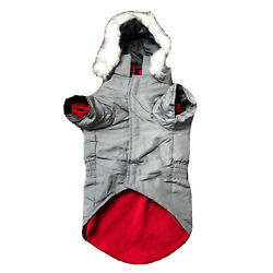 3-in-1 Eskimo Jacket for Medium Dogs Gray East Side Collection NWT