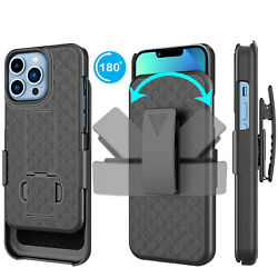 For iphone 13 Pro Max/13 Pro/13 Mini 5G Holster Shockproof Case Belt Clip Cover