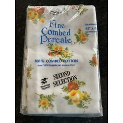 Vintage West Point Pepperell 2 Pillow Cases 100% Cotton 42x38 - New in Package