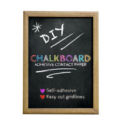 Duck Brand Chalkboard Liner 12 in x 10 ft Adhesive Laminate Writeable Surface