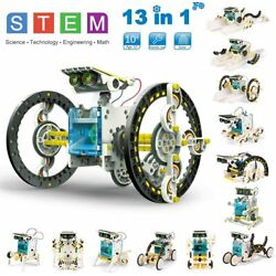STEM 13 in 1 Solar Robot Kit DIY Learning Science Educational Experiment Toy Set