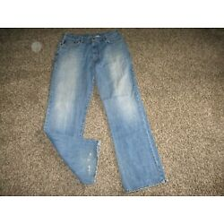 MENS ABERCROMBIE & FITCH BOOT CUT JEANS sz 34x34 vintage relaxed fit A&F