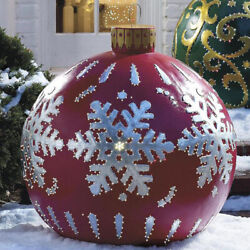 60cm Inflatable Christmas Ball Outdoor yard Xmas party Home Garden Decorations