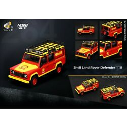 1/64 TINY MINI GT DIE-CAST - Shell Land Rover Defender 110 Hong Kong Special
