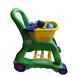 Leap Frog Pretend & Learn Shopping Cart Complete With All 10 Food Items! Works!