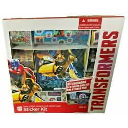 Transformers Over 1000 Stickers Kit And Sticker Pad
