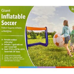 GIANT Inflatable Soccer Ball with Goal Portable Outdoor Fun Brand New in Package